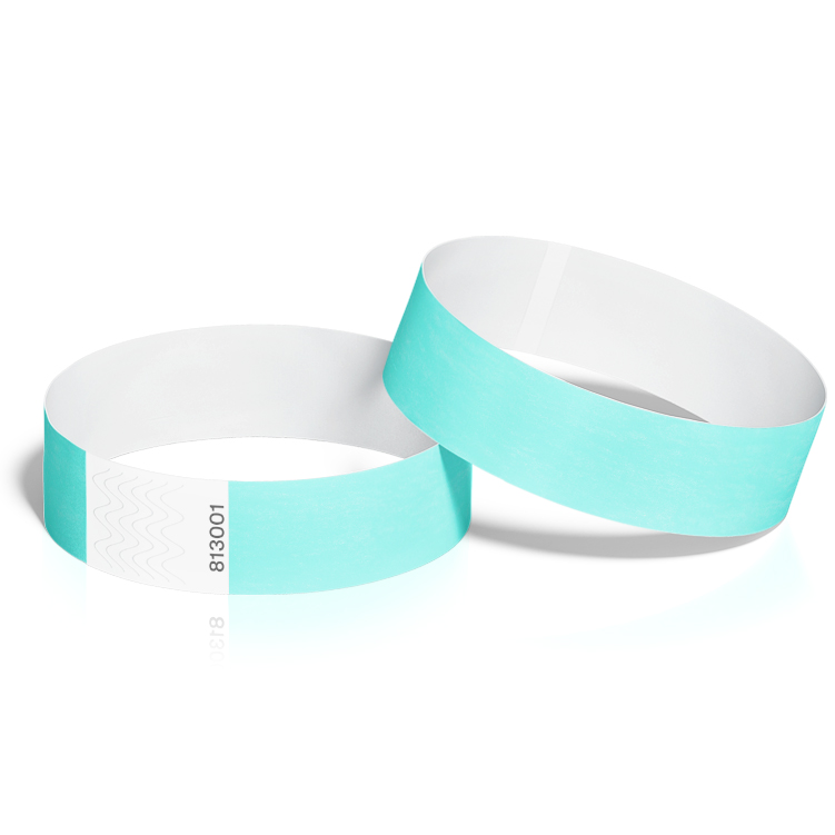 Event Wristbands 100 Packs in Aqua Colour