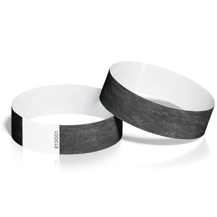 Event Wristbands 100 Pack in Black