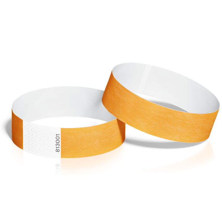 Event Wristbands 100 Pack in Neon Orange