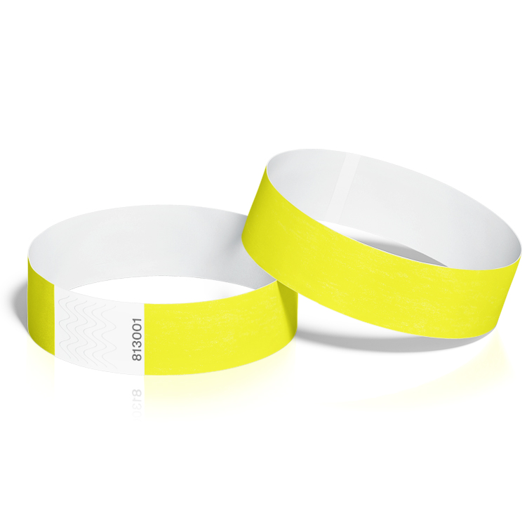 Event Wristbands 100 Pack in Neon Yellow
