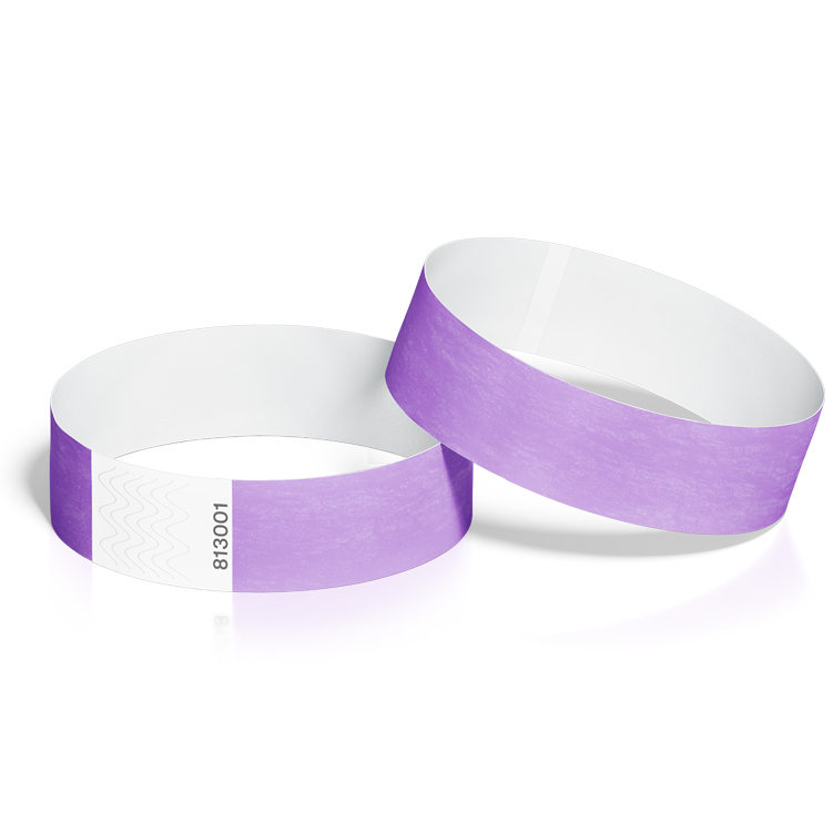 Event Wristbands 100 Pack in Purple