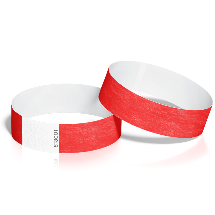 Event Wristbands 100 Pack in Red