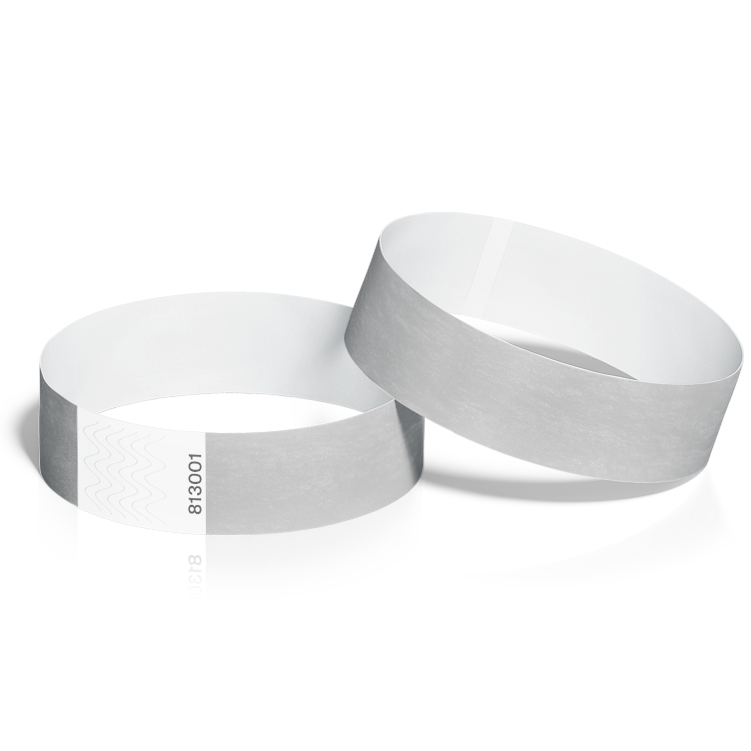 Event Wristbands 100 Pack in Silver
