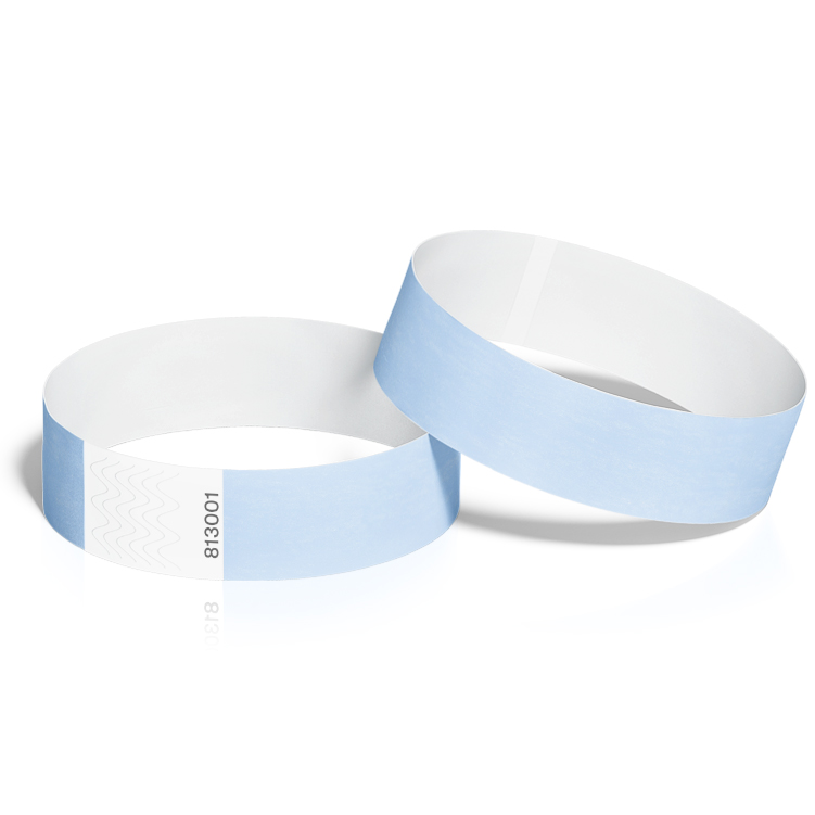 Event Wristbands 100 Pack in Sky Blue