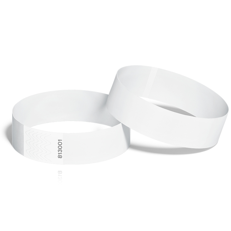 Event Wristbands 100 Pack in White