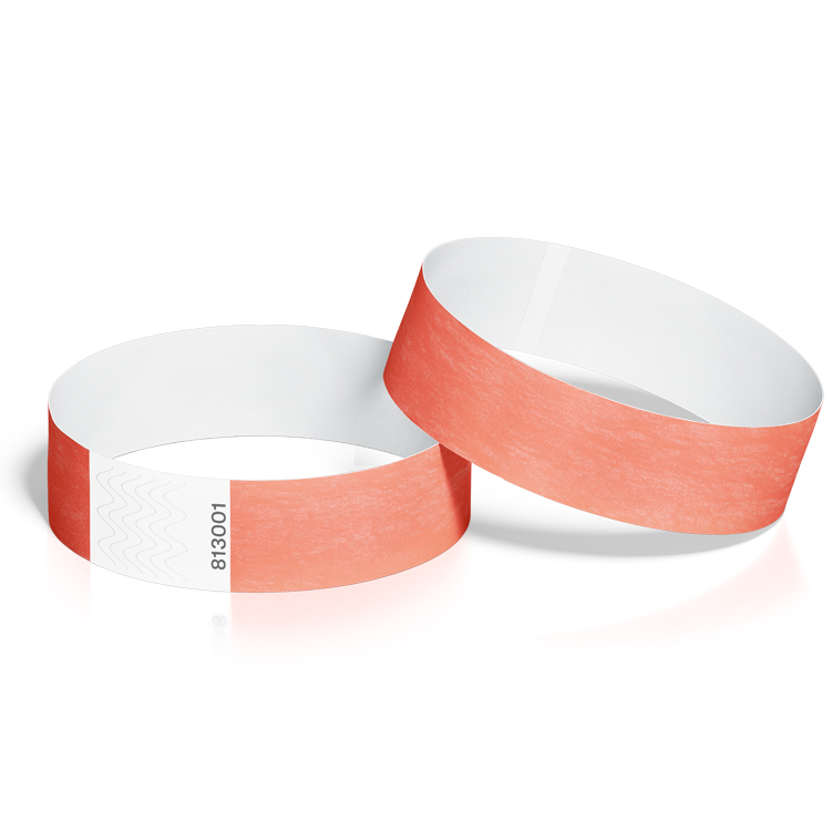 Event Wristbands 100 Pack in Coral