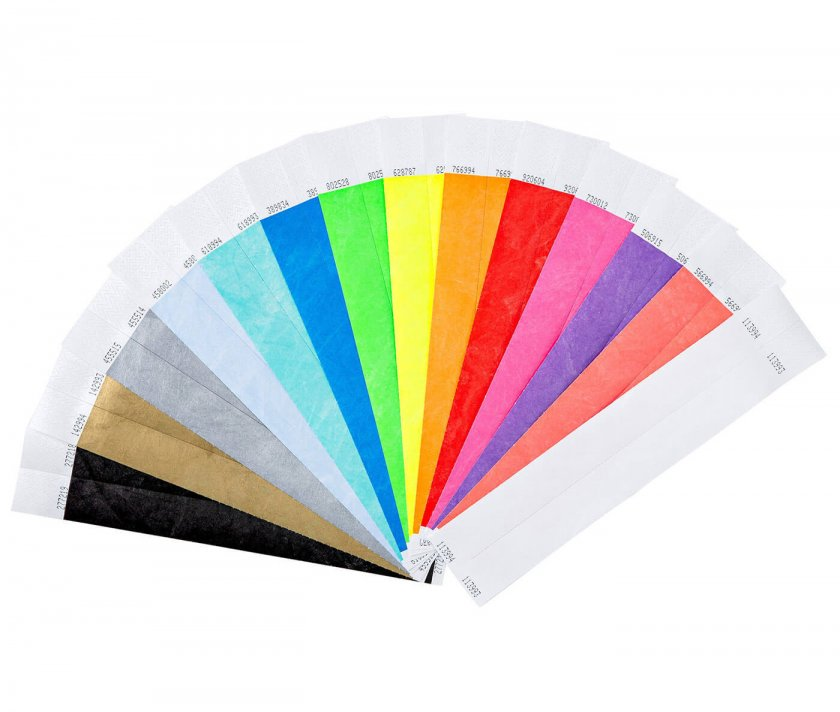 Event Wristbands 100 Pack in Mixed Colours