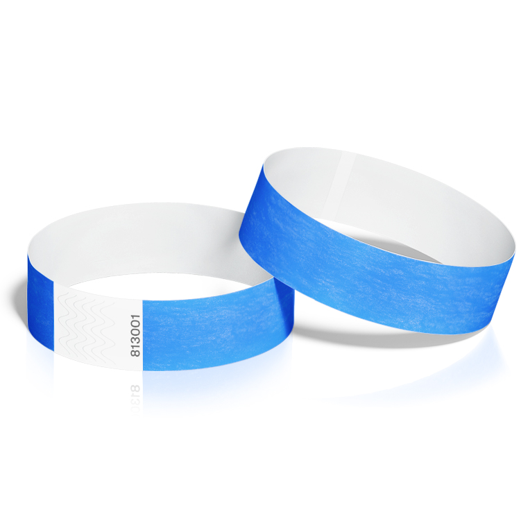 Event Wristbands 100 Pack in Neon Blue