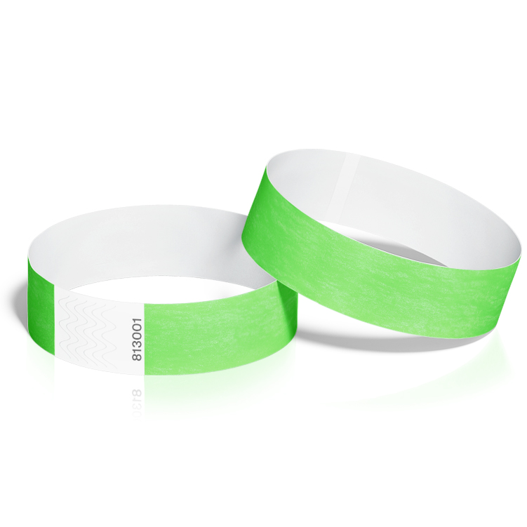 Event Wristbands 100 Pack in Neon Green