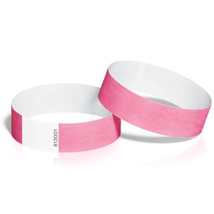 Event Wristbands 100 Pack in Neon Pink