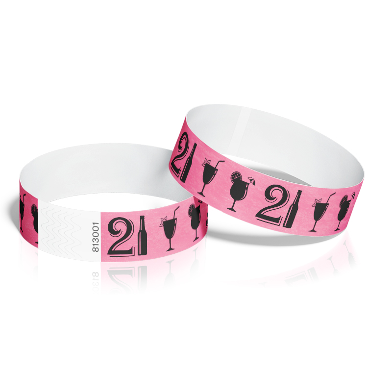 Birthday Event Wristbands with 21st Birthday Theme