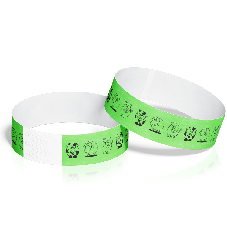 Birthday Event Wristbands with Farm Animals Design
