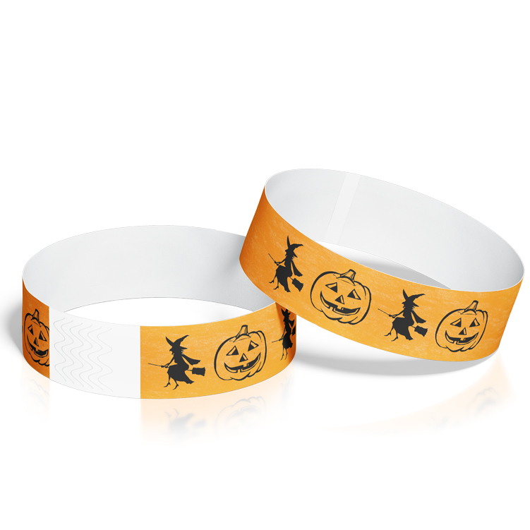 Custom Wristbands for Halloween with Pumpkin Theme