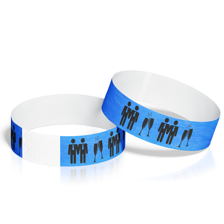 Gay Wedding Event Wristbands with Mr & Mr Design