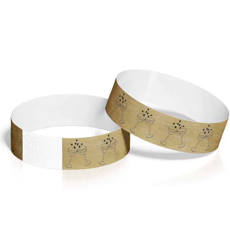 Custom Wristbands for Weddings with Wedding Cheers Design