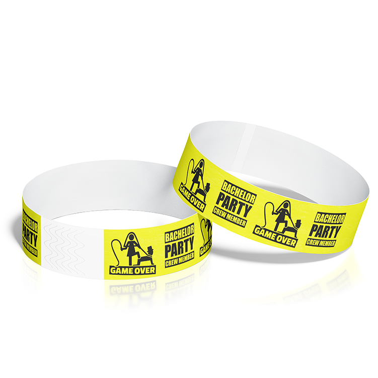 Custom Wristbands with Bachelor Party Theme