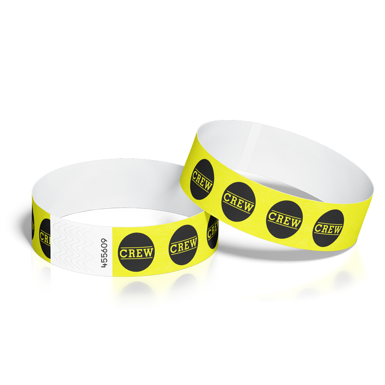 Wristbands for Events with Crew Circle Design