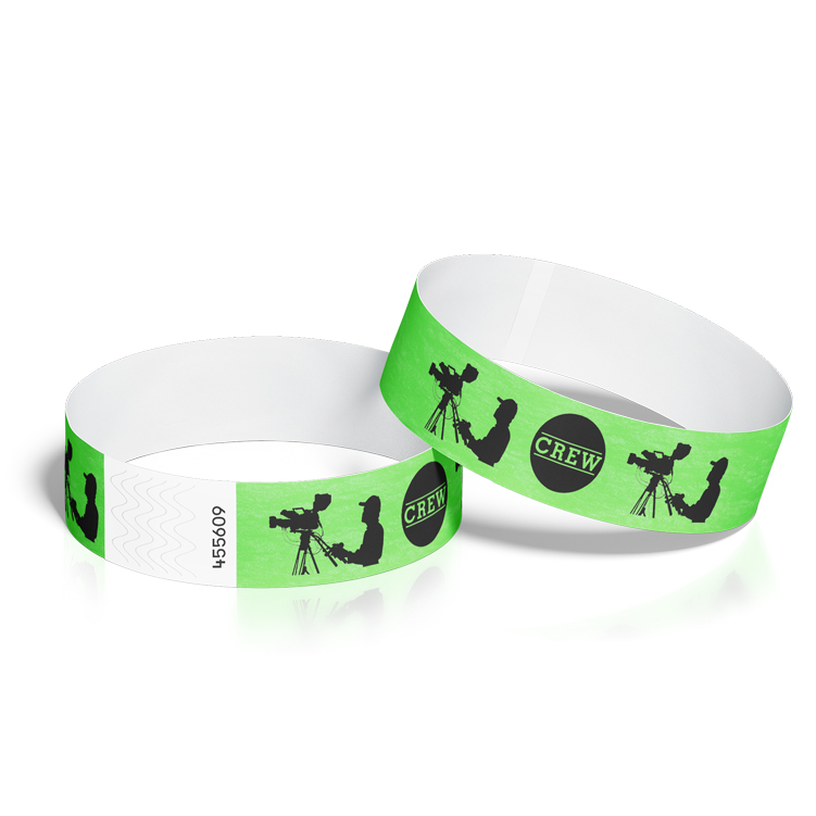 Wristbands for Events with Crew Cameraman Design