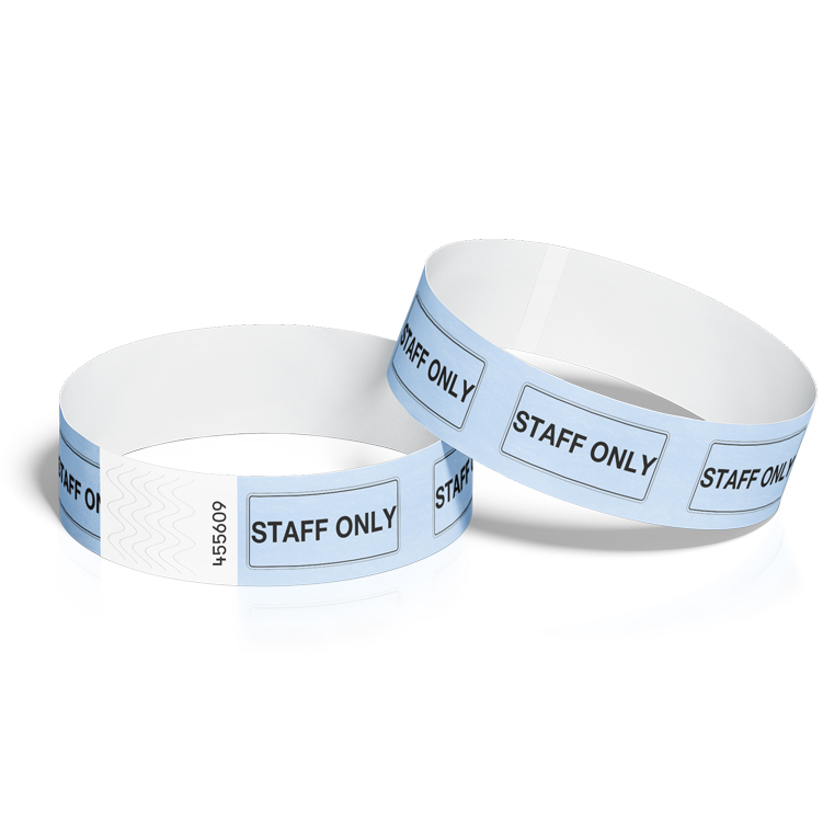 Wristbands for Events with Staff Design